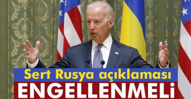Biden'den Flaş Rusya Açıklaması