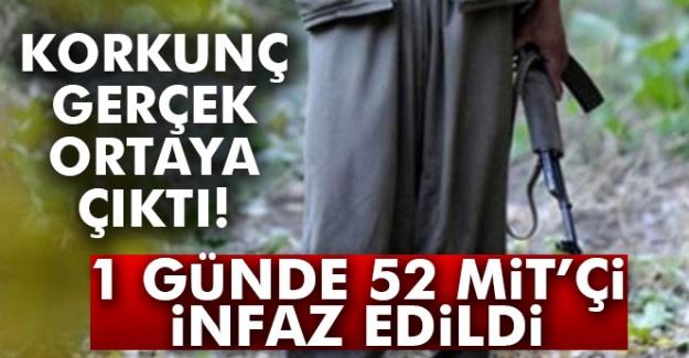 Korkunç gerçek! 1 günde 52 MİT muhbirine infaz