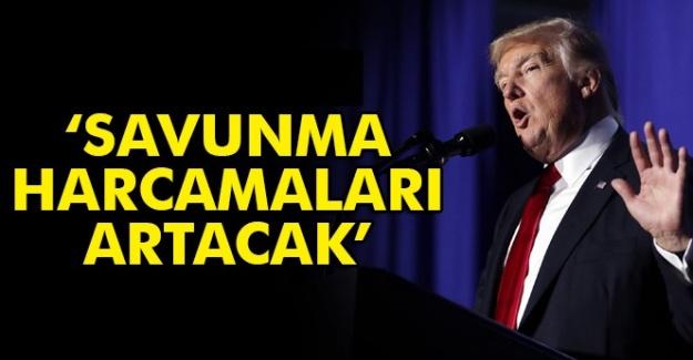 """ABD Başkanı Donald Trump: """"Savunma harcamaları artacak"""""""