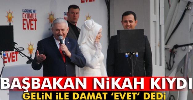 Başbakan Nikah Kıydı, Gelin İle Damat 'Evet' Dedi
