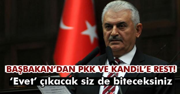 Başbakan Yıldırım'dan PKK ve Kandil'e rest!