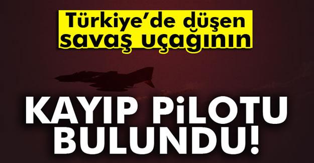 Düşen uçağın Suriyeli pilotu bulundu