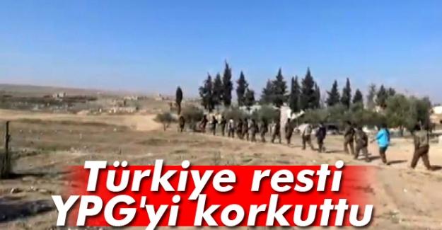 Türkiye Resti YPG'yi korkuttu