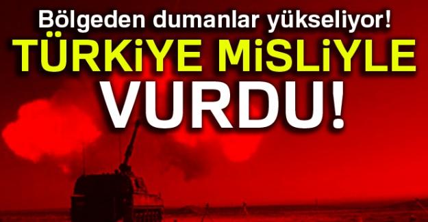 Bölgeden dumanlar yükseliyor! Türkiye misliyle vurdu!