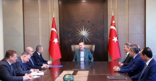Cumhurbaşkanı Erdoğan, Rusya Savunma Bakanı'nı kabul etti