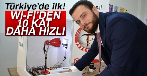 Türkiye'de ilk! Wİ-Fİ'den on kat daha hızlı