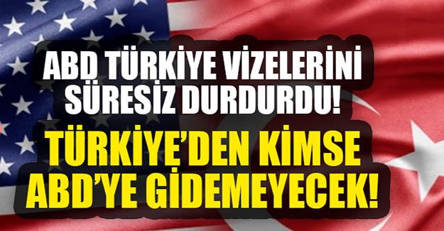 ABD vize başvurusunu askıya aldı