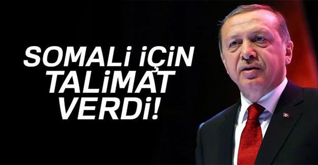 Cumhurbaşkanı Erdoğan Somali için talimat verdi