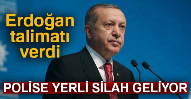 Erdoğan talimatı verdi! Polise yerli silah geliyor
