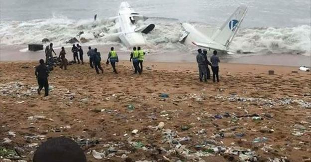 Fildişi Sahili'nden kalkan uçak denize düştü!