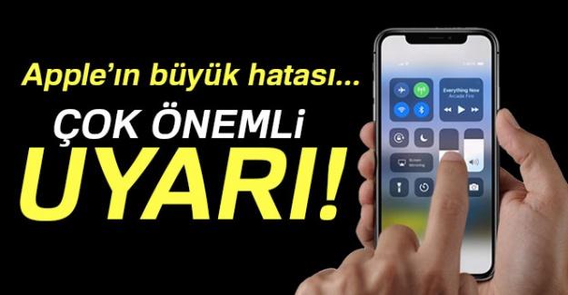 iPhone'unuz her an çökebilir! Büyük hataya dikkat...