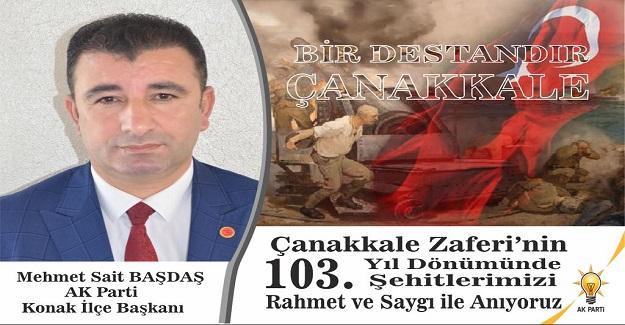 AK Partili Başdaş, Çanakkale Zaferi'ni Kutladı