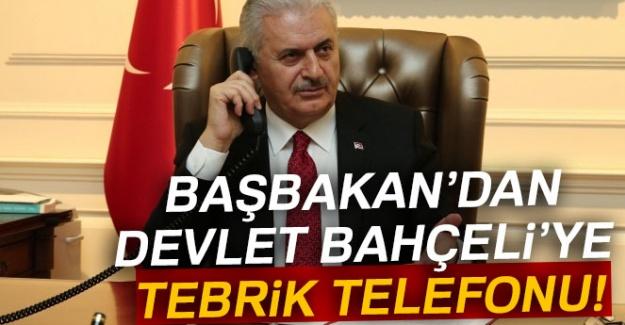 Başbakan Binali Yıldırım'dan, Devlet Bahçeli'ye tebrik telefonu