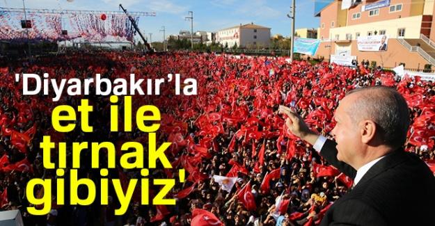 Cumhurbaşkanı Erdoğan: 'Diyarbakır'la et ile tırnak gibiyiz'
