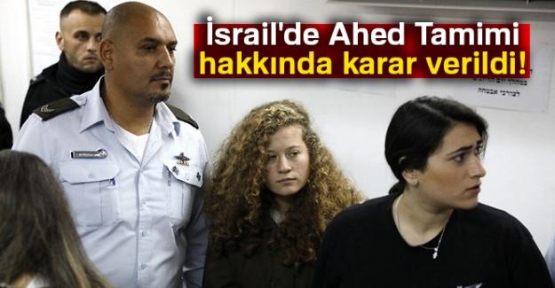 Filistinli Ahed Tamimi'ye 8 ay ceza