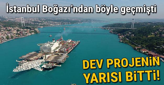 Türk Akımı'nın deniz kısmının yarısı tamamlandı