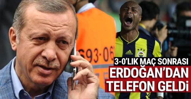Erdoğan, 3-0'lık galibiyetin ardından Çaykur Rizespor'u aradı