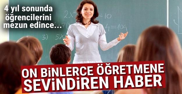 On binlerce öğretmeni ilgilendiriyor! 4 yıl sonunda öğrencilerini mezun edince...