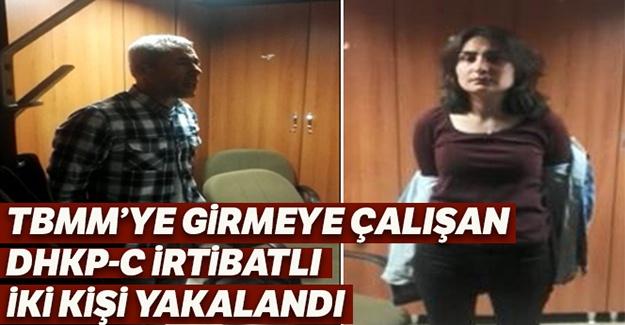 TBMM'ye girmeye çalışan DHKP/C irtibatlı iki kişi yakalandı