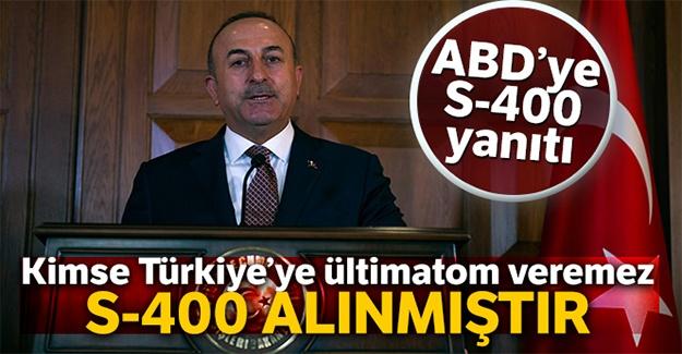 Bakan Çavuşoğlu'ndan ABD'nin S-400 mektubuna yanıt