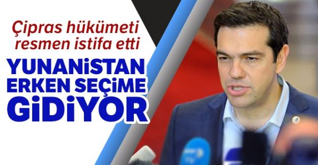 Çipras hükümeti resmen istifa etti