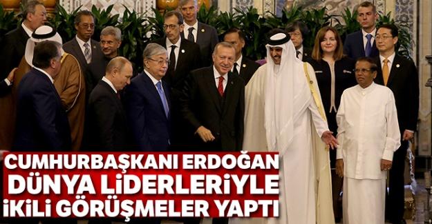 Cumhurbaşkanı Erdoğan dünya liderleriyle ikili görüşmeler yaptı