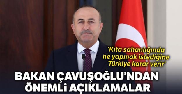 Bakan Çavuşoğlu'dan önemli açıklamalar