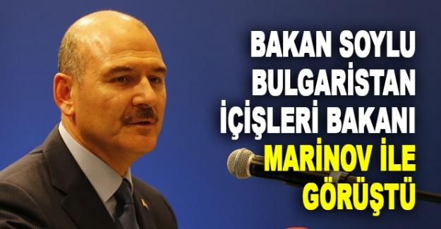 Bakan Soylu, Bulgaristan İçişleri Bakanı Marinov ile görüştü