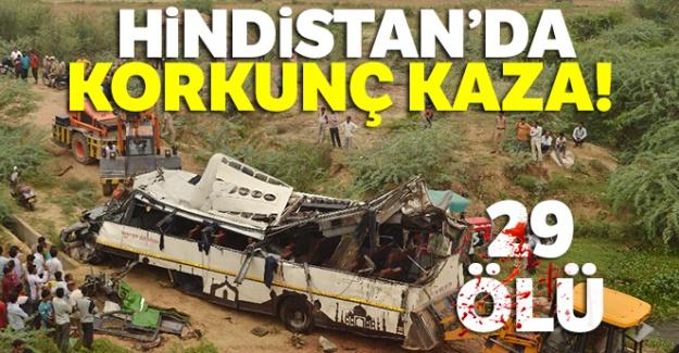 Hindistan'da korkunç kaza: 29 ölü