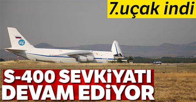 S-400 teslimatında yedinci uçak Mürted Hava Üssü'ne indi
