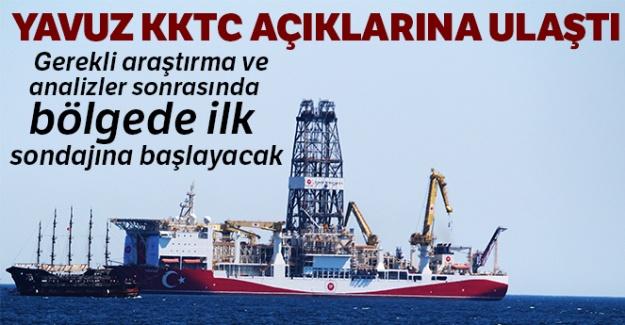 Yavuz, KKTC açıklarına ulaştı