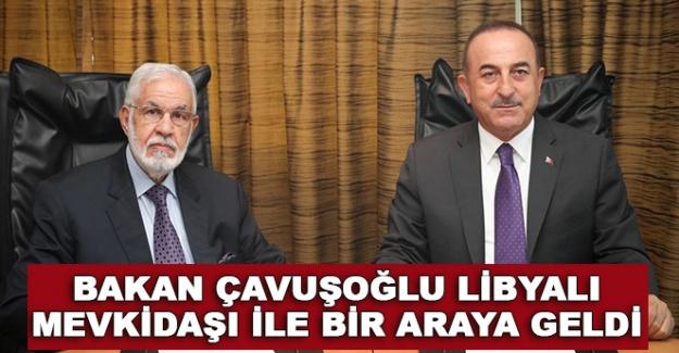 Bakan Çavuşoğlu, Libyalı mevkidaşı ile bir araya geldi