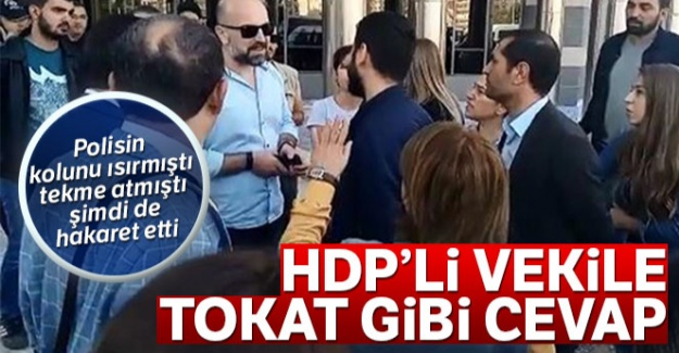 HDP'li vekil Aydeniz polise hakaret etti