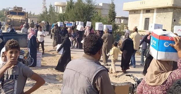 Suriye'nin kuzeyindeki halka insani yardım