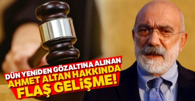 Ahmet Altan hakkında yeni gelişme