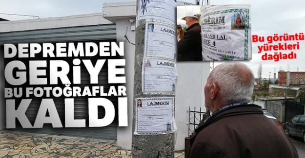 Arnavutluk'ta ölenlerin fotoğrafları elektrik direğinde