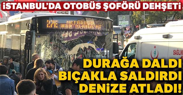 Beşiktaş'ta otobüs durağa daldı!