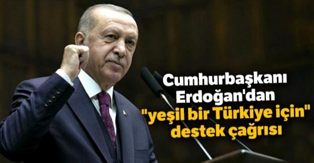 """Cumhurbaşkanı Erdoğan'dan """"yeşil bir Türkiye için"""" destek çağrısı"""