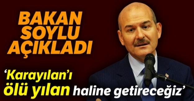 İçişleri Bakanı Süleyman Soylu: 'Milletimize sözümüzdür; Karayılan'ı ölü yılan haline getireceğiz'