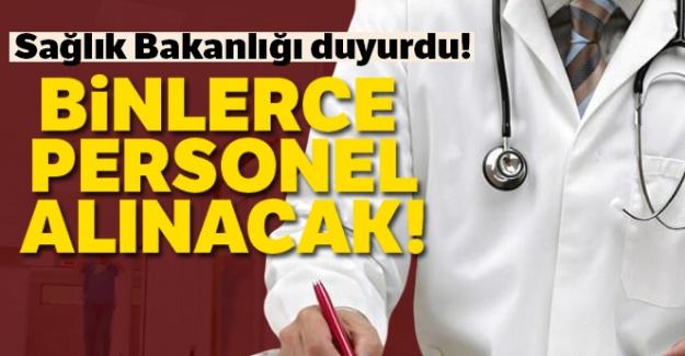 Sağlık Bakanlığı duyurdu! Binlerce personel alınacak!