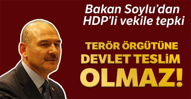 Bakan Soylu'dan HDP'li Vekile tepki