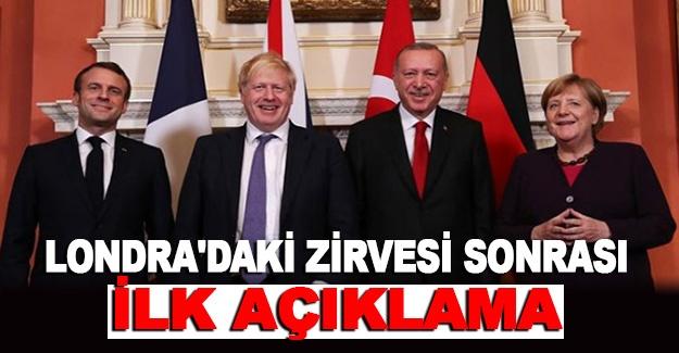 Cumhurbaşkanı Erdoğan'dan Londra'daki zirvesi sonrası ilk açıklama