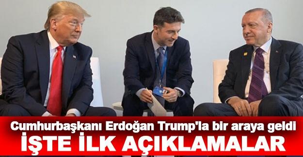 Cumhurbaşkanı Erdoğan, Trump'la bir araya geldi...  İşte ilk açıklamalar!