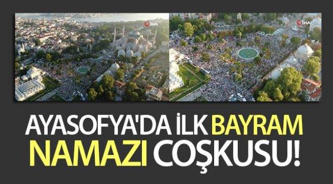 Ayasofya'da Bayram Namazına Yoğun İlgi