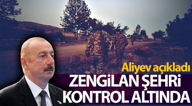 Aliyev açıkladı: Azerbaycan ordusu Zengilan kentini Ermenistan işgalinden kurtardı