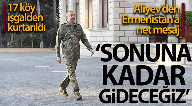 Azerbaycan Cumhurbaşkanı İlham Aliyev: '17 köy daha Ermenistan işgalinden kurtarıldı'