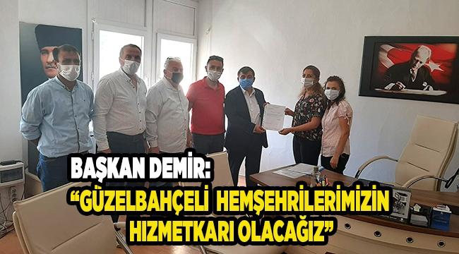Başkan Demir ve yeni yönetimi mazbatasını aldı