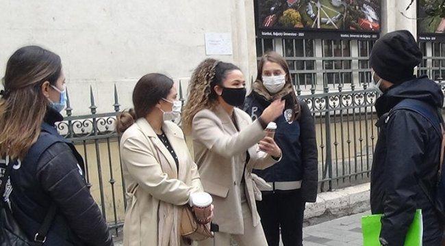 Polise İngilizce 'kapa çeneni' diyen turistler gözaltına alındı