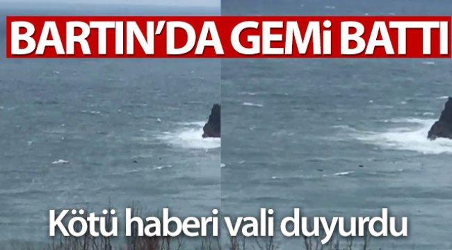 Bartın açıklarında Rus bandralı gemi battı