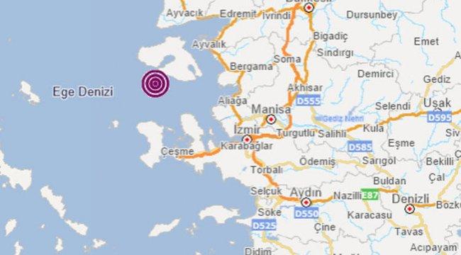 İzmir Karaburun'da 3.6 büyüklüğünde deprem